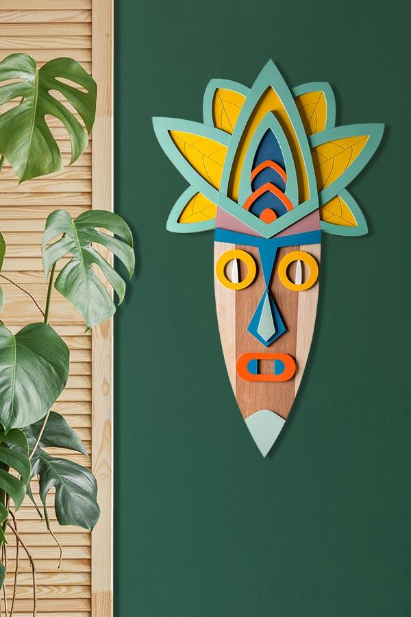 surfingonion drewniane dekoracje scienne maski